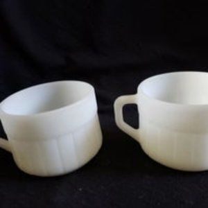 Federal Glass Barrel Soup Coffee Mugs